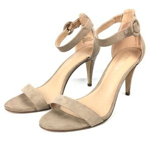 NEW Madden Girl 8.5 Nude Heels Open Toe Strappy